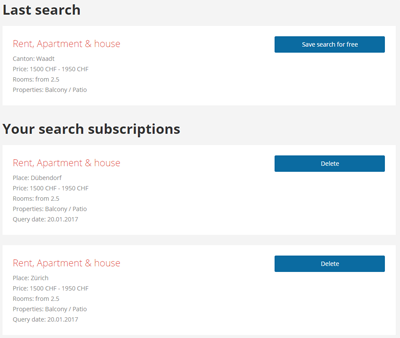 Screenshot search subscriptions